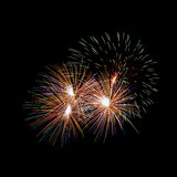 Fireworks. The disintegration of fireworks Royalty Free Stock Images