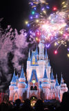 Fireworks at Disney Cinderella Castle Royalty Free Stock Photography