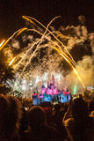 Fireworks at Disney Castle Stock Images