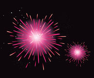 Fireworks display. New Year celebration. Stylized fireworks. Vector Illustration royalty free illustration