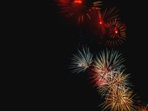Fireworks Display. A display of colorful fireworks Royalty Free Stock Photography