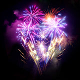 Fireworks Display. A large Fireworks Display event Royalty Free Stock Photo