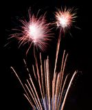 Fireworks display. Colorful July 4th fireworks display royalty free stock photos