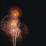 Fireworks display. 4th of July fireworks celebration Royalty Free Stock Photo