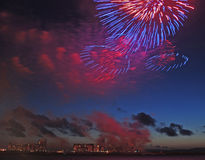 Fireworks display Stock Images