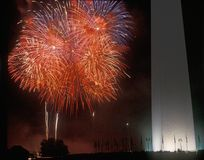 Fireworks Display At The National Monument, Washington DC Stock Photo