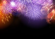 Fireworks Display Background Stock Images