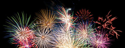 Fireworks display banner royalty free stock photography