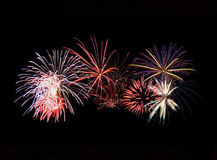 Fireworks Display. Beautiful fireworks display on Canada Day.  Featuring many different colours Stock Photo