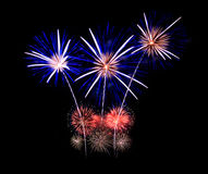 Fireworks display in celebration. Royalty Free Stock Images