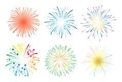 Fireworks vector Royalty Free Stock Photos