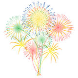 Fireworks vector Royalty Free Stock Image