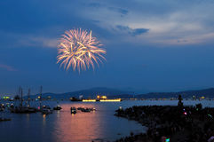 Fireworks display at English Bay Stock Photography