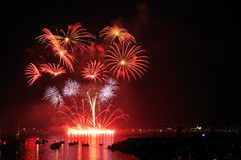 Fireworks display at English Bay Stock Photos
