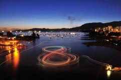 Fireworks display at English Bay Stock Images