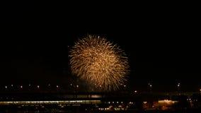 Fireworks display. Festival fireworks. 4K 30fps stock video footage