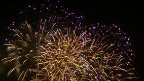 Fireworks display. Festival fireworks. 4K 30fps stock footage