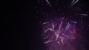 Fireworks display Grand Finale stock video