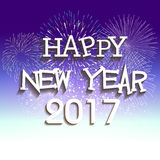 Fireworks display for happy new year 2017 Royalty Free Stock Photo