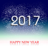 Fireworks display for happy new year 2017 Stock Image