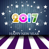 Fireworks display for happy new year 2017 Stock Photo