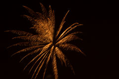 Fireworks. Display with light effects over black background Stock Photography