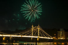 Fireworks display in London, UK Stock Photos