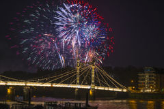Fireworks display in London, UK Royalty Free Stock Photography