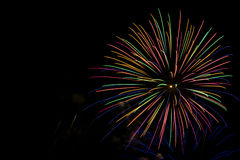Fireworks Display in Milwaukee, WI. With copy space Stock Photography