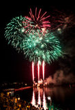 Fireworks Display in Nanaimo Stock Images