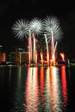 Fireworks display during National Day Parade 2011 Stock Photo