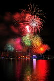 Fireworks display during National Day Parade 2011 Royalty Free Stock Photos
