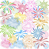 Fireworks Display for New year and all celebration  illustration Royalty Free Stock Photos