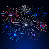Fireworks Display for New year and all celebration  illustration Royalty Free Stock Photo