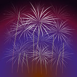Fireworks Display for New year and all celebration  illustration Stock Photography