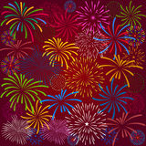 Fireworks Display for New year and all celebration  illustration Stock Photo