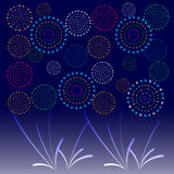 Fireworks Display for New year and all celebration  illustration Royalty Free Stock Photography