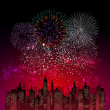 Fireworks Display for New year and all celebration  illustration Stock Image