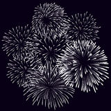 Fireworks Display for New year and all celebration vector illustration Stock Image