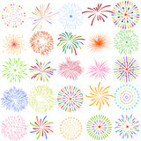 Fireworks Display for New year and all celebration vector illustration Vector Illustration