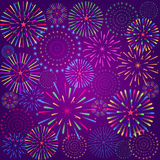 Fireworks Display for New year and all celebration vector illustration Royalty Free Stock Image