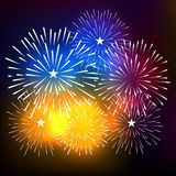 Fireworks Display for New year and all celebration vector illustration Stock Images