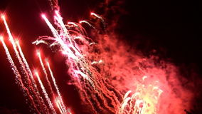 Fireworks display stock video footage