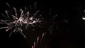 A Fireworks Display at night stock footage