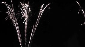 A Fireworks Display at night stock video
