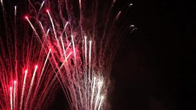 A Fireworks Display at night stock video footage