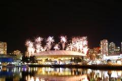 Fireworks Display Over False Creek Royalty Free Stock Photos