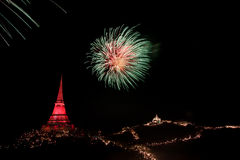 Fireworks display at Phra Nakorn Kiri festival Stock Image