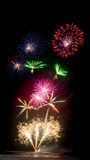 Fireworks Display Seafire Royalty Free Stock Image