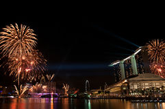 Fireworks Display, Singapore Royalty Free Stock Photography